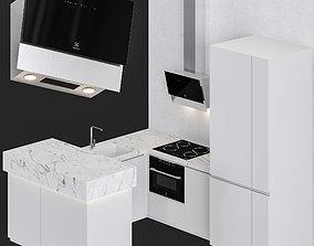 Small Modern Kitchen 3D