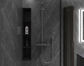 Awesome shower room with stone mass tile 3D model