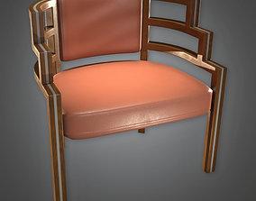 3D asset DKO -Designer Chair Art Deco 02 - PBR Game Ready