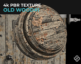 3D Old Wood 4K PBR Material Texture