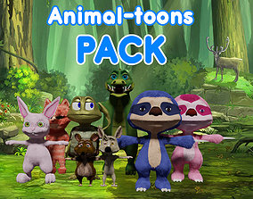 3D asset Animal-toons Pack