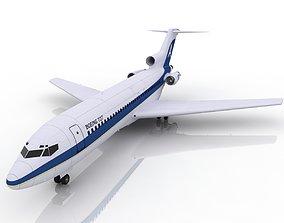 3D Passenger Boeing 727 plane aircraft