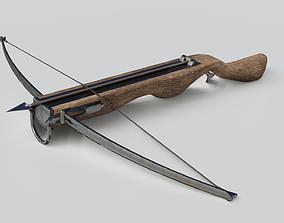 Crossbow 3D model low-poly PBR