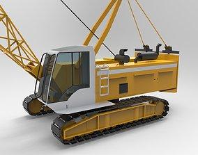 3D model cargo Mobile Crane