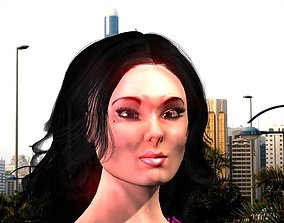 Asuka the Human Asian girl 3D model rigged