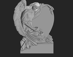 monument with angel 3D print model