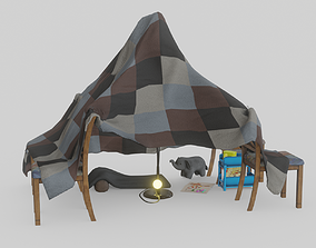 Blanket Fort 3D asset