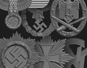 3D print model Nazi Germany Badges Pack