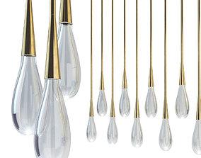 3D model Suspended lamp pour lights by design haus liberty