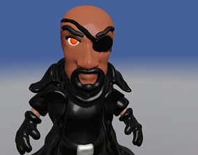 Samuel L Jackson is Nick Fury baby chibi 3D model
