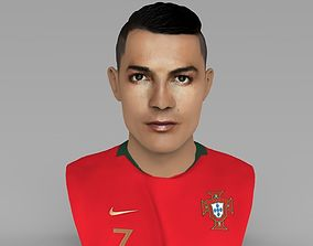 Cristiano Ronaldo bust ready for full color 3D