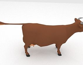 3D model Cow Animal low poly