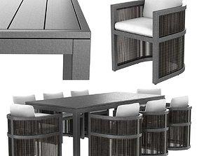 3D model Restoration Hardware Capri ALUMINUM ARMCHAIR 2