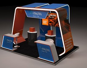 3D Modern Stand for communications company