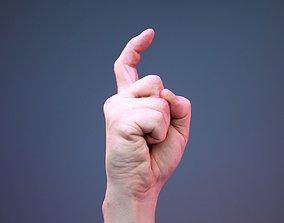 Finger Alphabet X 3D model