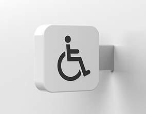 wheelchair sign 3D model