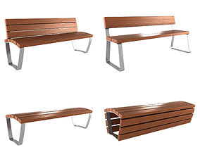 Modern Bench collection 1 3D