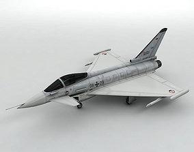 3D Eurofighter Typhoon Jet Aircraft -Light