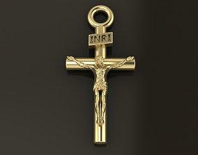 JESUS CROSS PENDANT MID SIZE 3D printable model