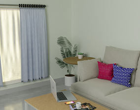 A modern room 3D model