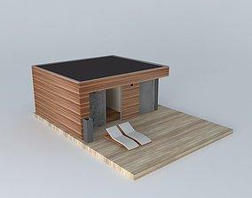 3D Modern small home exterior