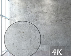 3D asset The plastered wall with cracks
