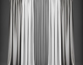 3D asset game-ready tulle Curtain