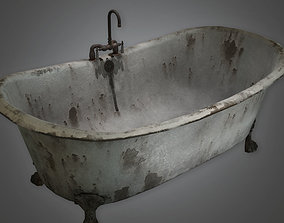 ATT - Old Bath Tub Antiques - PBR Game Ready 3D asset