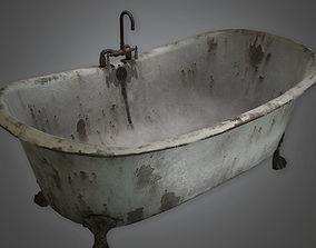 3D asset Old Bath Tub Antiques - PBR Game Ready