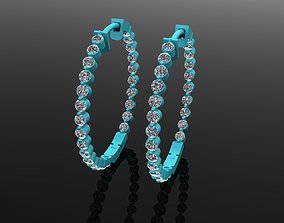 Hoop earring 2mm diamond 3D printable model