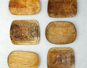3D Tribal Wood Decor 1