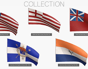 3D model Old Merchants Naval Flags