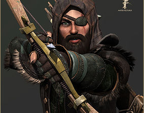 3D asset Animated Hunter