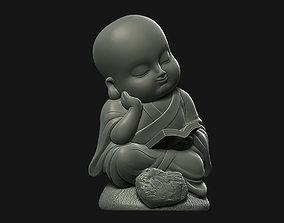Reading Buddha reading 3D print model