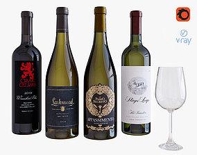 3D model Wine bottle set 14