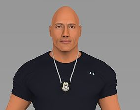 Dwayne Johnson Fast and Furious ready for full color 3D