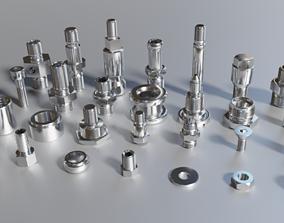 Parts threaded 3D