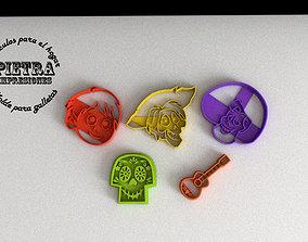 MOLDE CORTANTE PARA GALLETAS FONDANT COCO 3D print model
