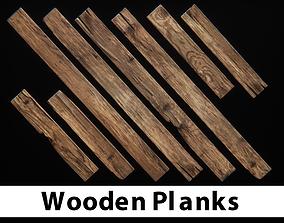 Wooden Planks 3D asset