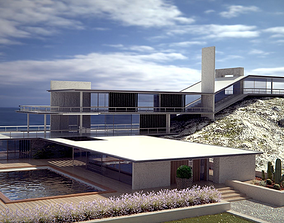 Modern style original sea House 3D