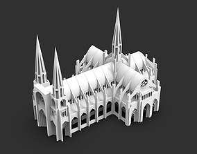 Gothic Cathedral Church 3D print model