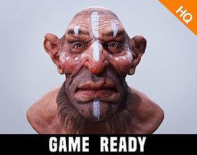 3D asset Dwarf Head Low Poly Game Ready Troll