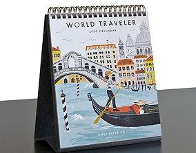 3D model Rifle Paper Co World Traveler 2020 Desk Calendar