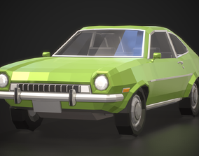 Low-Poly Retro City Car 01 3D asset
