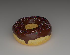 doughnut with icing 3D