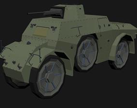 3D asset Autoblinda 41 LowPoly isometric