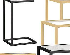 3D model Bedside Tables Set FOR MISS SHOP
