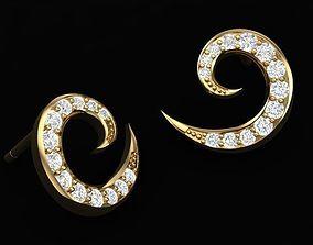 3D print model Swirl Earring