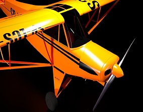 aircraft 3D model animated