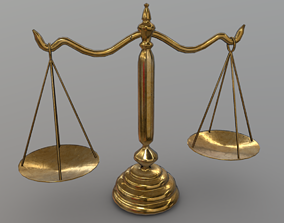 3D asset Balance Scale